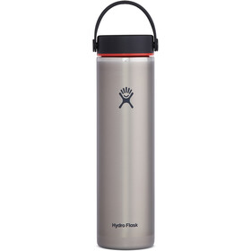 Hydro Flask Wide Mouth Trail Lightweight Drinkfles met Flex Cap 709ml, slate